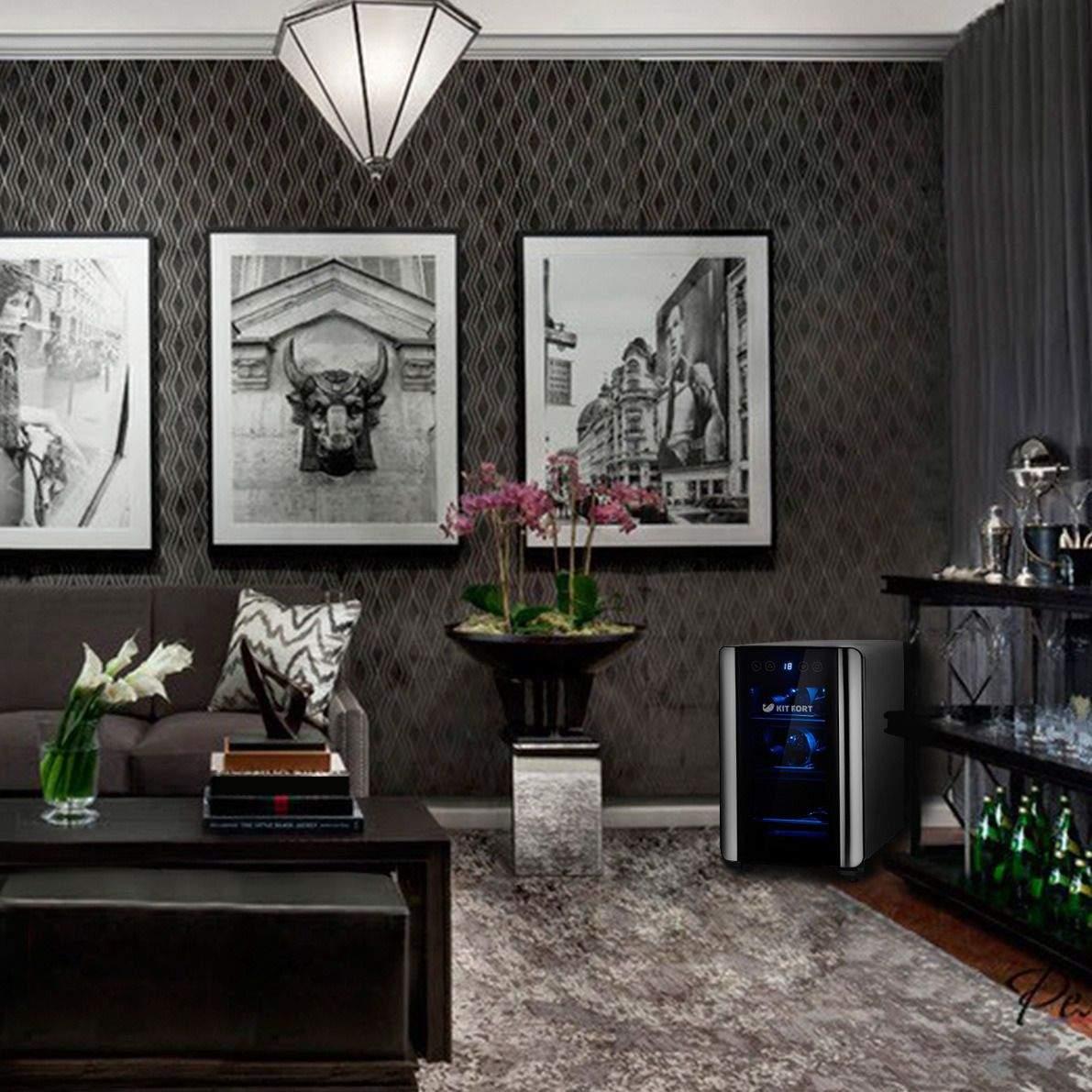 Черно белые фото в интерьере гостиной то, что